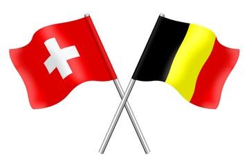 Flags : Switzerland and Belgium