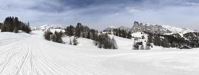 Alta Badia, ski slopes in the Dolomites