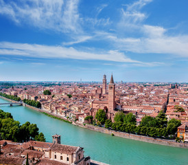 View on the historical part of Verona