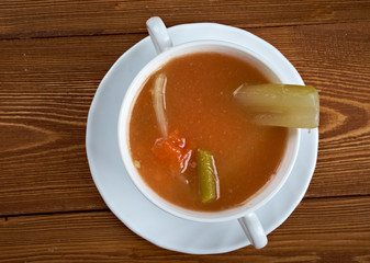 Chicken celery  with rice soup