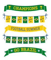Brazil Bunting and Banners Collection
