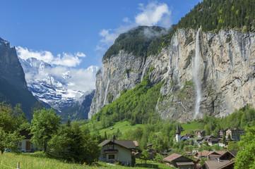 Lauterbrunnen valley in the Bernese Alps, Switzerland.
