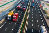 Fototapety motion trucks on the freeway