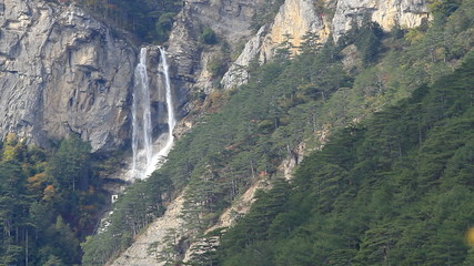 Beautiful waterfall Uchan-Su in Crimea