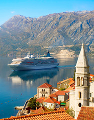 Cruise liner, Montenegro