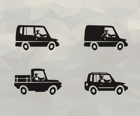Truck icons. Vector format