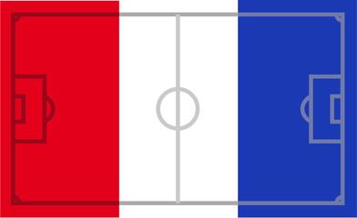 Frankreich Fußballflagge