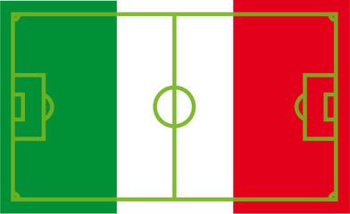 Italien Fußballflagge