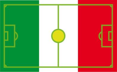Mexiko Flußballflagge