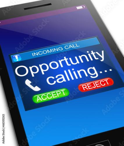 Leinwanddruck Bild Opportunity concept.