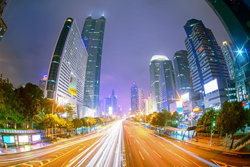 In Shenzhen road at night