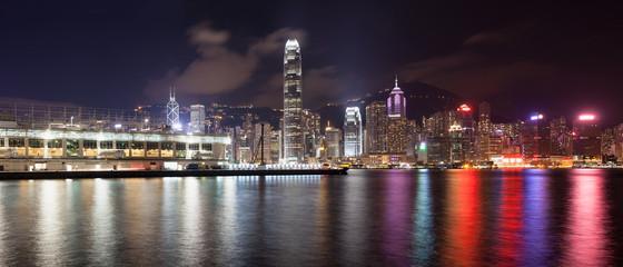 Ocean Terminal with Hong Kong City Skyline