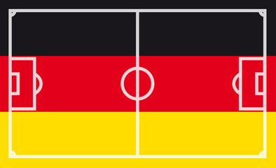 Deutschland Fußballflagge