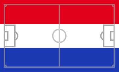 Niederlade Fußballflagge