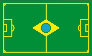 Brasilien Fussballflagge
