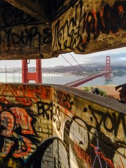 different view of golden gate bridge