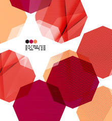 Bright red geometric modern design template