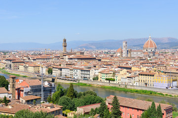 Historic centre of Florence in Italy
