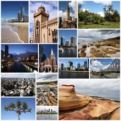 Australia photos - montage postcard
