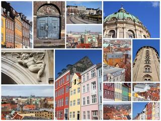 Denmark - Copenhagen - photo collage