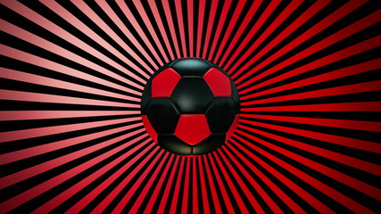 Soccer ball on a sunburst background episode 1