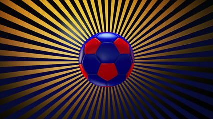 Soccer ball on a sunburst background episode 3