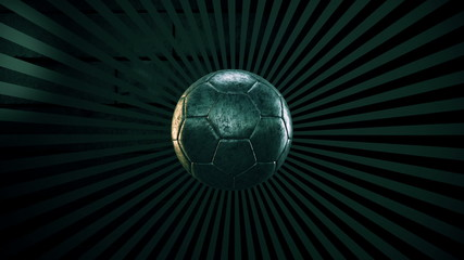 Soccer ball on a sunburst background episode 4