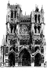 Amiens Gothic cathedral