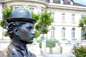 Charlie Chaplin monument in Vevey
