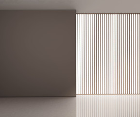 Minimal contemporary  interior with blinds