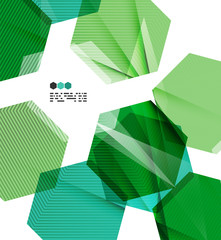 Bright green geometric modern design template
