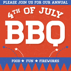 Retro 4th of July BBQ Invite