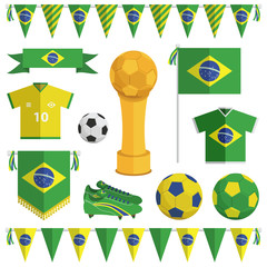 brazil soccer objects