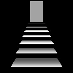 staircase  on a black background