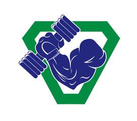 bodybuilding emblem