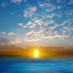 abstract nature background with sea sunset