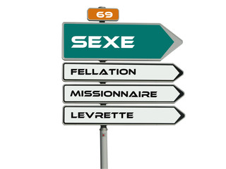 panneau sexe