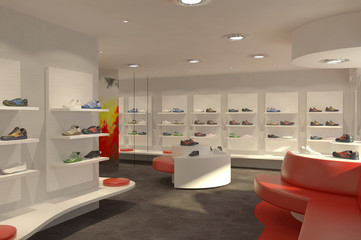 Magasin de chaussures