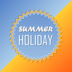 summer holiday, retro label, flat design