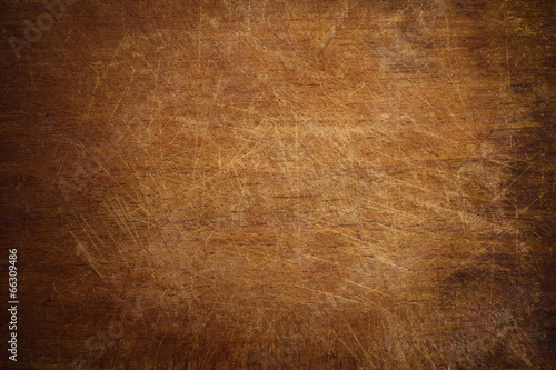 Old grunge wooden cutting kitchen board background - 66309486