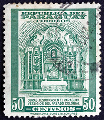Postage stamp Paraguay 1946 Colonial Jesuit Altar
