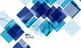 Fototapety Bright blue geometric modern design template