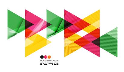 Colorful geometric modern design template