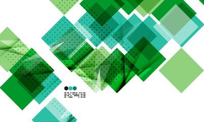 Bright green geometric modern design template