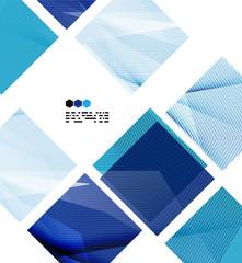 Bright blue geometric modern design template