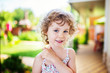 Cute little girl portrait, outdoor