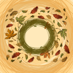 Autumn. Vector format