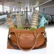 Bag monuments travel concept