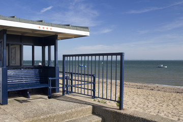 Shelter on Jubilee Beach, Southend-on-Sea, Essex, England