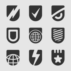 Set of symbols shield